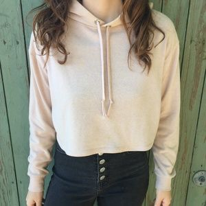 3 FOR $15 H&M Light Pink Cropped Hoodie
